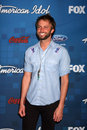 Paul mcdonald los angeles arrives at the american idol season finalists party at the grove on march in los angeles ca Royalty Free Stock Images