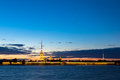 Paul and peter fortress in saint petersburg city during the white nights russia Stock Photos