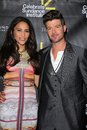 Paula Patton, Robin Thicke at the Sundance Institute Benefit Presented by Tiffany & Co., Soho House, Los Angeles, CA 06-06-12 Stock Photo