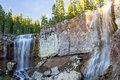 Paulina creek falls oregon in newberry volcanic monument in in sunset time Stock Photography