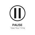 Pause visual, take your time concept Royalty Free Stock Photo
