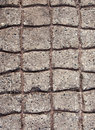 Paved concrete cobblestones Royalty Free Stock Images