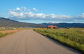 Paved Road along Snake River in Alpine Wyoming Royalty Free Stock Photo