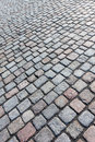 Paved road with  stones Royalty Free Stock Image