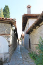 Paved Street in the Old Town of Bansko Royalty Free Stock Photo