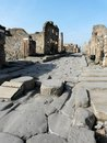 Paved street at Pompeii, Italy Royalty Free Stock Images
