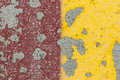 Pavement abstract pattern created by peeling paint on a Royalty Free Stock Images