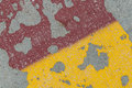 Pavement abstract pattern created by peeling paint on a Royalty Free Stock Photography