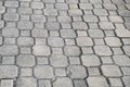 Pavement blocks close up texture usable as background Royalty Free Stock Photography