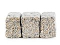 Pavement blocks three concrete block with mineral topping shot on white Stock Photos