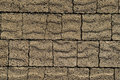 Pavement brown bricks texture Stock Photos