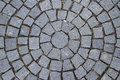 Pavement Circle Pattern Closeup Royalty Free Stock Photo