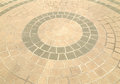 Pavement  in a circle pattern Royalty Free Stock Photo