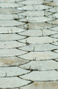 Pavement with curved elements picture of Royalty Free Stock Photography