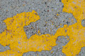 Pavement detail abstract pattern created by peeling paint on a Stock Images