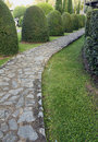 Pavement made of stone in beautiful garden Royalty Free Stock Photography