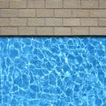 Pavement with pool Stock Photography