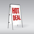 Pavement sign with the text hot deal this is file of eps format Royalty Free Stock Image