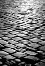 Pavement texture details made of stone blocks set up together Royalty Free Stock Images