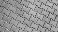 Pavement tiles black and white with high detail Royalty Free Stock Photos