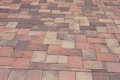 Paver and color different colors of or blocks paced together to build a driveway Stock Photos