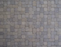 Pavers concrete in a square pattern for a driveway Royalty Free Stock Photo