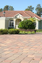 Pavers up to home Stock Photography
