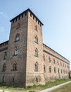 Pavia castle lombardy italy the medieval known as castello visconteo Stock Photography