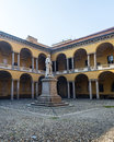 Pavia court of the university lombardy italy Royalty Free Stock Photo