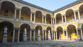 Pavia court of the university lombardy italy Royalty Free Stock Images