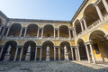 Pavia court of the university lombardy italy Royalty Free Stock Photography