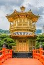 Pavilion of absolute perfection chi lin nunnery kowloon hong kon at in kong Royalty Free Stock Photos