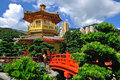 The pavilion of absolute perfection in the nan lian garden hong kong Royalty Free Stock Photos