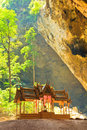 Pavilion in the cave thailand praya nakorn pranburi province of Stock Photography