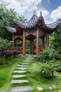 Pavilion in chinese garden Royalty Free Stock Photo