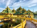 Pavilion of the enlightened in ancient siam thailand Stock Photos