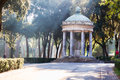 Pavilion in garden of villa borghese rome italy october the shape a rotunda inside and park complex on october Royalty Free Stock Photography