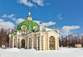 Pavilion grotto kuskovo estate moscow Royalty Free Stock Photography