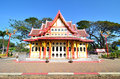 Pavilion at huahin station of king rama train Royalty Free Stock Image