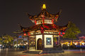 The pavilion at night in confucian temple nanjing Royalty Free Stock Images