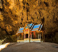 Pavilion in phrayanakhon cave in thailand inside prachuap khirikhan province of Stock Photography