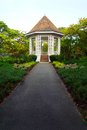 Pavilion In Tropical Garden Wi...