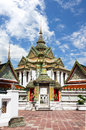 Pavilion of wat pho temple in bangkok thailand Royalty Free Stock Photos