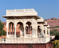 Pavilions in jaswant thada mausoleum india jodhpur Stock Photo