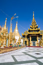 Pavilions of Shwedagon complex Stock Images