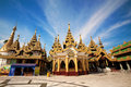 Pavilions surrounding the main central pagoda Royalty Free Stock Image