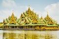 Pavillion of the enlightened ancient city samutprakarn thailand Stock Photography