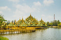 Pavillion of the enlightened ancient city samutprakarn thailand Royalty Free Stock Image