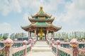 Pavillion of the enlightened ancient city samutprakarn thailand Royalty Free Stock Photo