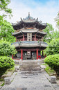 Pavillon in the giant wild goose pagoda x ian china Stock Photos